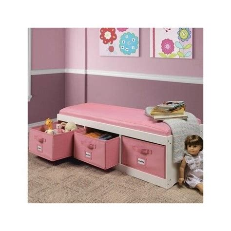 kids storage bench furniture toy box bedroom playroom organizer bin seat basket ebay