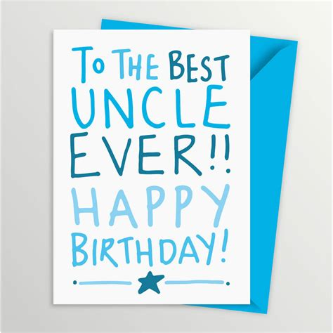 printable happy birthday cards for uncle best ever uncle birthday card by a is for alphabet