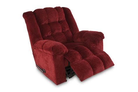 Burgundy Recliner by Ludden Burgundy Rocker Recliner Mathis Brothers