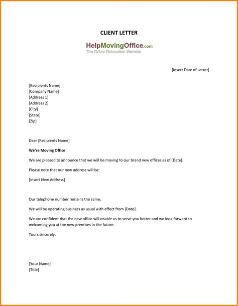Business Letter Format Addresses 8 Change Of Address Template Resume Reference