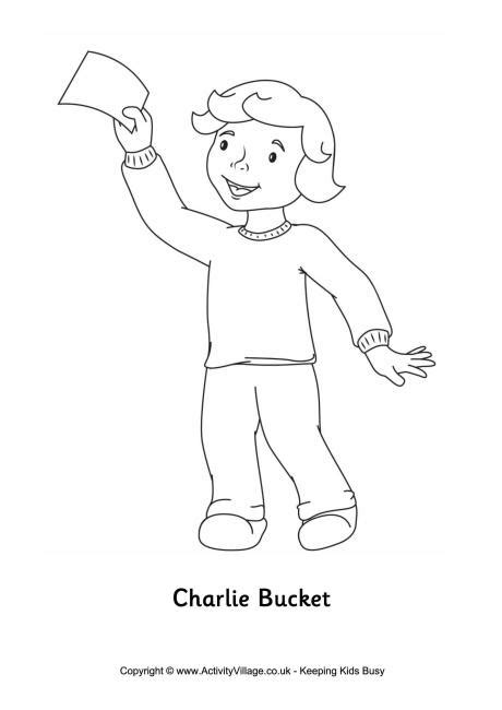 charlie bucket colouring page