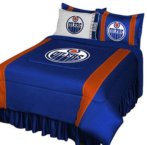 hockey bed nhl edmonton oilers bedding set hockey comforter sheets