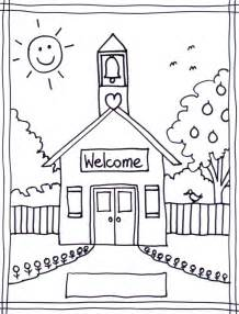 school house color page free coloring pages of one room school house