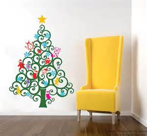 Christmas Tree Wall Stickers On Sale Happy Christmas Tree Wall Decal 59h Holiday