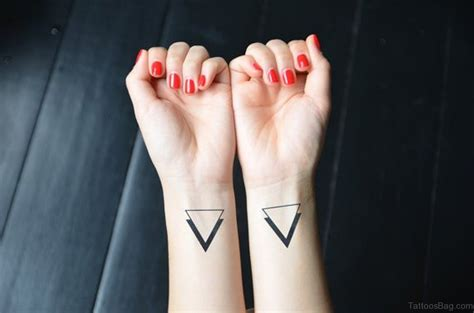 simple triangle tattoo 68 mind blowing triangle tattoos on wrist