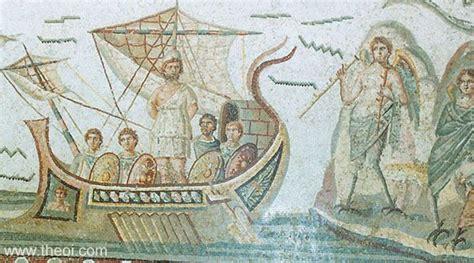 Classical Vase Odysseus Amp The Sirens Ancient Greco Roman Mosaic