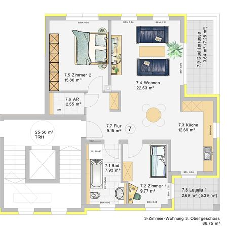 3 zimmer wohnung 3 zimmer wohnung im 3 obergeschoss w7 klia wohnpark