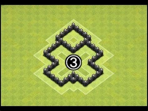 layout of coc th3 clash of clans town hall 3 farming base th3 farming