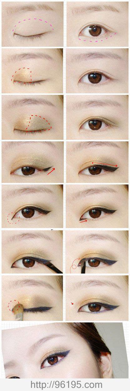 eyeshadow tutorial for asian eye shapes hair makeup idea easy idea