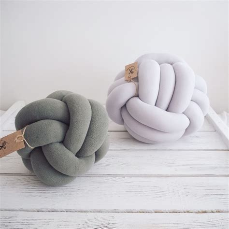 knot pillows knot pillow gray knotted pillow knot cushion chunky pillow