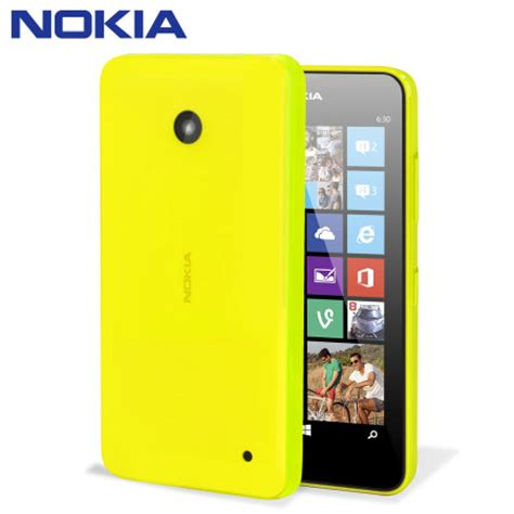 nokia lumia 630 635 official nokia lumia 630 635 shell yellow mobilezap
