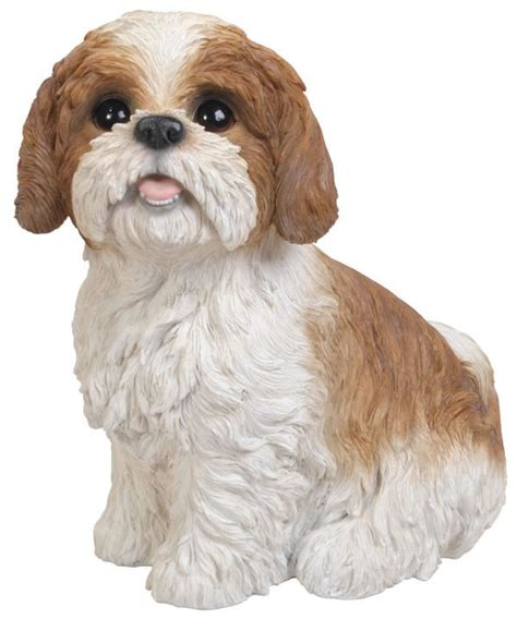 shih tzu garden statue sitting brown shih tzu statue 11 quot l natures gallery all products bc83584