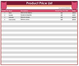 product list template html price list templates template product jpeg product price 8 product list samples free sample example format