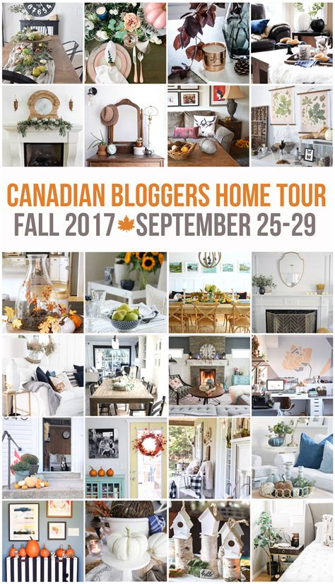 canadian bloggers home tours our fall home a pop of rustic neutral fall home tour