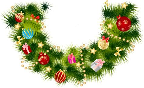 xmas swag png pine branch garland with ornaments gallery yopriceville high quality images and