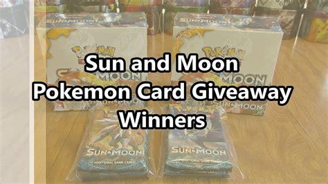 Pokemon Card Giveaway - sun and moon pokemon card giveaway winners youtube