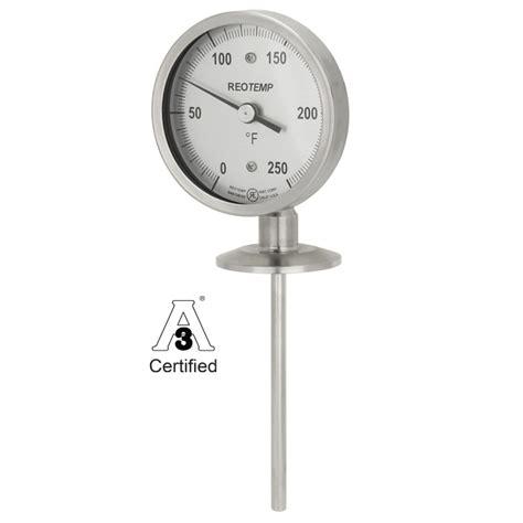 Termometer Bimetal sanitary thermometer reotemp instruments