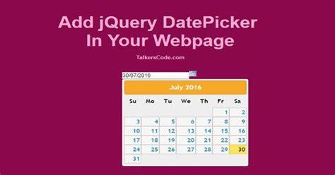 jquery datepicker format date mysql add jquery datepicker in your webpage