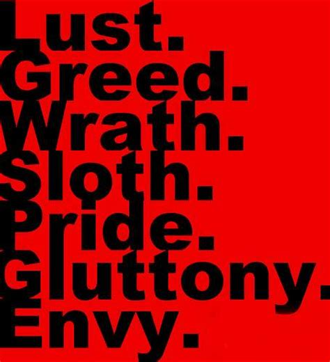 seven deadly sins preparation 4 eternity p4e 243 the flesh out list revisited