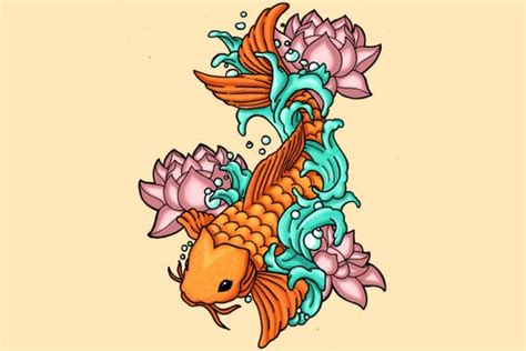 koi fish lotus flower tattoo designs koi fish meaning color direction and more tatring