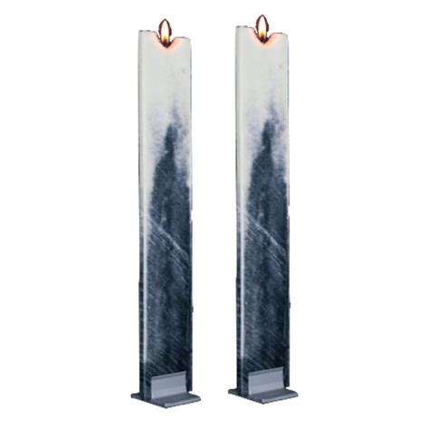 Flat Candle Holders by Flat Candle Set With Holders