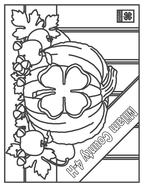 4 H Clover Coloring Pages by White 4 H Clover Sketch Coloring Page
