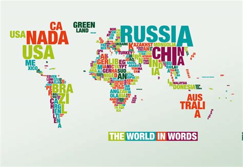 typography world map varimage typography of the world map