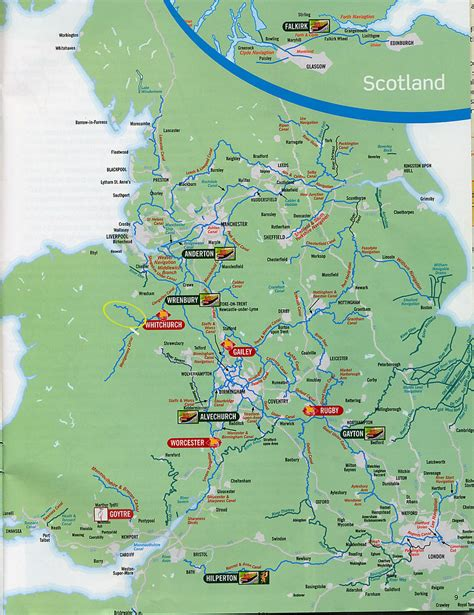 scanned map   english canal network picklednewt