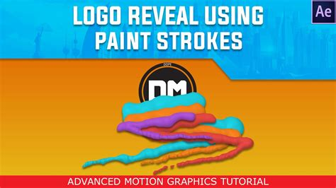 tutorial logo reveal after effects after effects tutorial paint stroke logo reveal motion