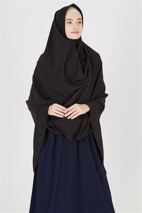 Jilbab Khimar sell ashelinda khimar black out khimar hijabenka