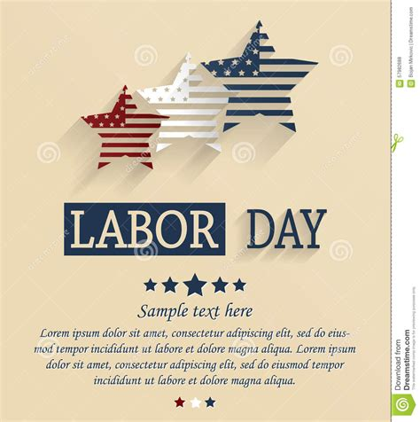 how to make a labour day card labor day card stock vector image of labor labour