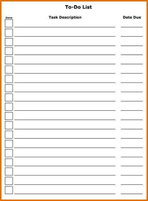 to do checklist template 8 free to do list templatereference letters words