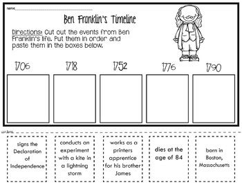 benjamin franklin biography worksheet ben franklin worksheets geersc
