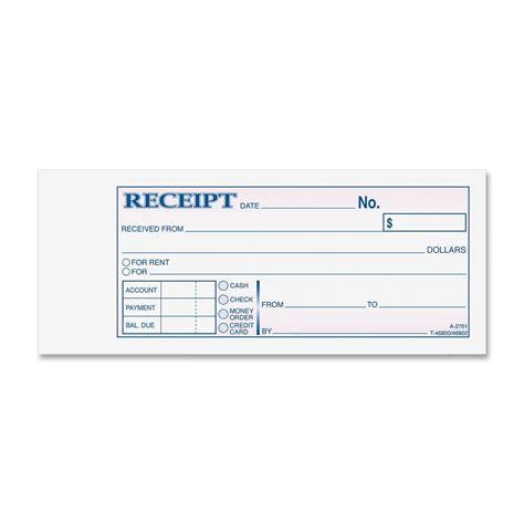 adams petty cash receipt book 5 quot x 3 2 5 quot 1 part staples