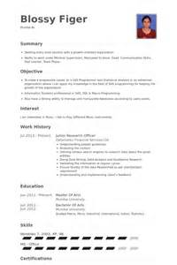 Research Officer Sle Resume by Research Officer Resume Sles Visualcv Resume Sles Database