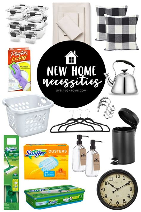 new house necessities new home necessities checklist printable resource live
