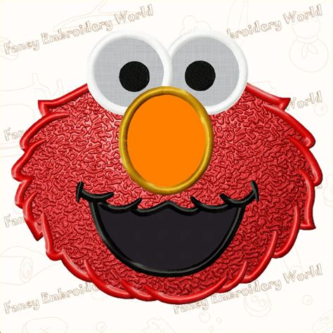 elmo applique elmo applique embroidery design machine embroidery design