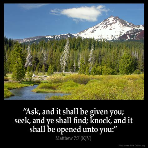 Knock And The Door Shall Be Opened Kjv by Matthew 7 7 Inspirational Image