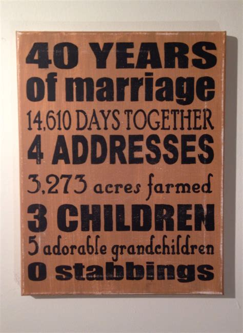 Wedding Anniversary Gift To Parents by Wedding Anniversary Gifts 40th Wedding Anniversary Gifts