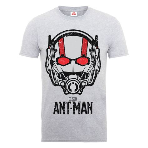 T Shirt Antman marvel s ant helmet t shirt grey iwoot