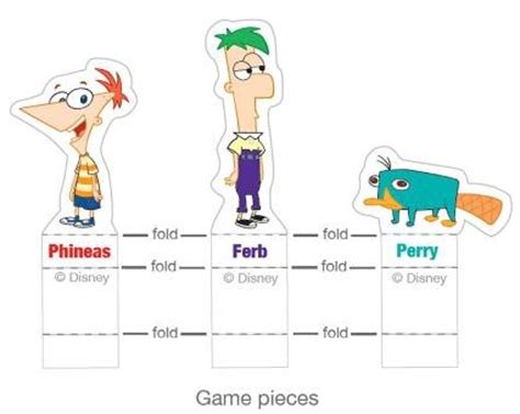 printable board game characters image printable game pieces jpg phineas and ferb wiki