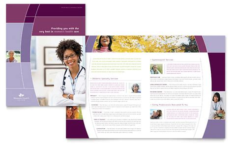 women s health clinic brochure template word publisher