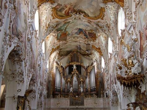 baroque architecture beautiful baroque architecture inside rottenbuch abbey