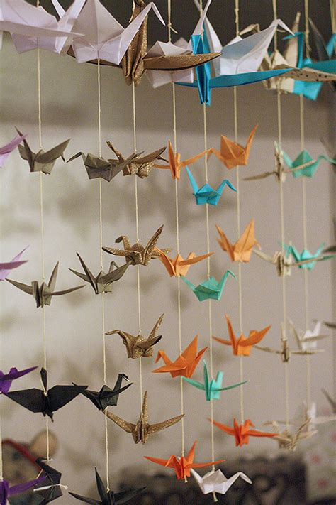 Buy Origami Cranes - diy paper decorations that will make you question a