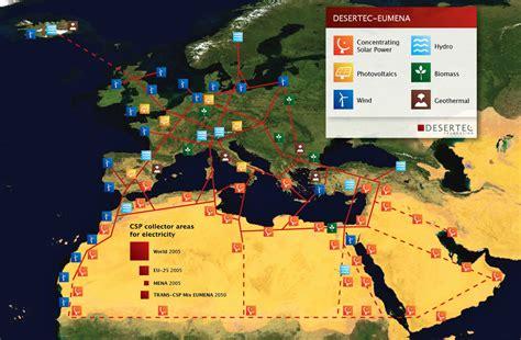 middle east map in 2050 desertec kan heel europa voorzien zonne energie