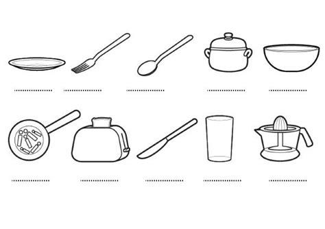 dibujos de cocina para colorear utensilios de cocina para colorear plato imagui