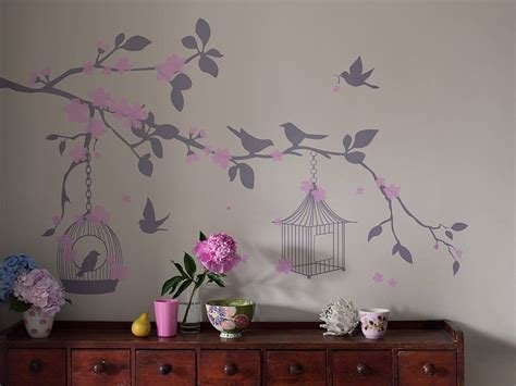 birdcage wall sticker bird cage wall stickers by bambizi notonthehighstreet