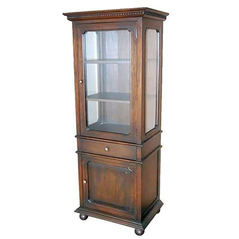 Glass Door Curio Cabinet Wayfair Glass Door Curio Cabinet