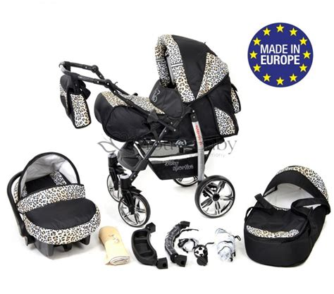 Leopard Set 3in1 you and baby 3in1 travel system with swivel wheels car
