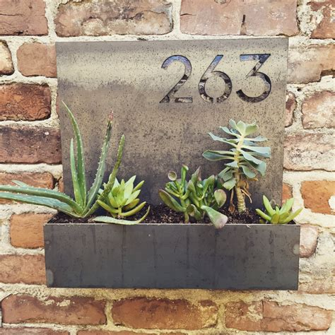 design house numbers uk garden district house number planter